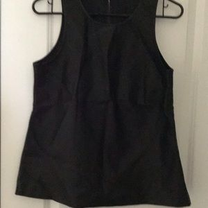 New w/o tag: made well black faux leather large